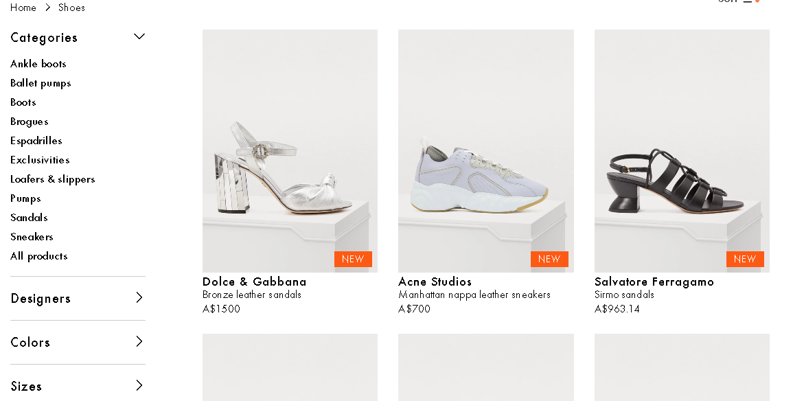 24 Sevre shoes product page
