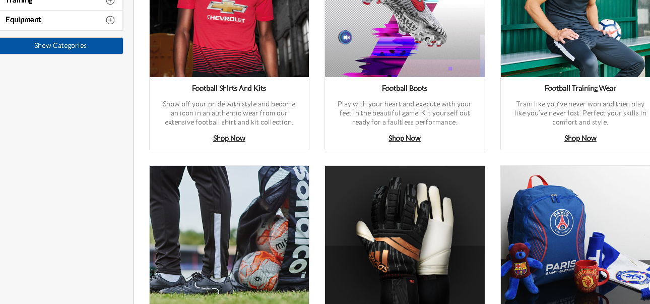 Sports Direct Football product page