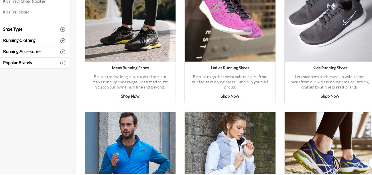 Sports Direct Running product page