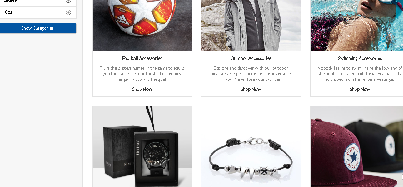 Sports Direct Accessories product page