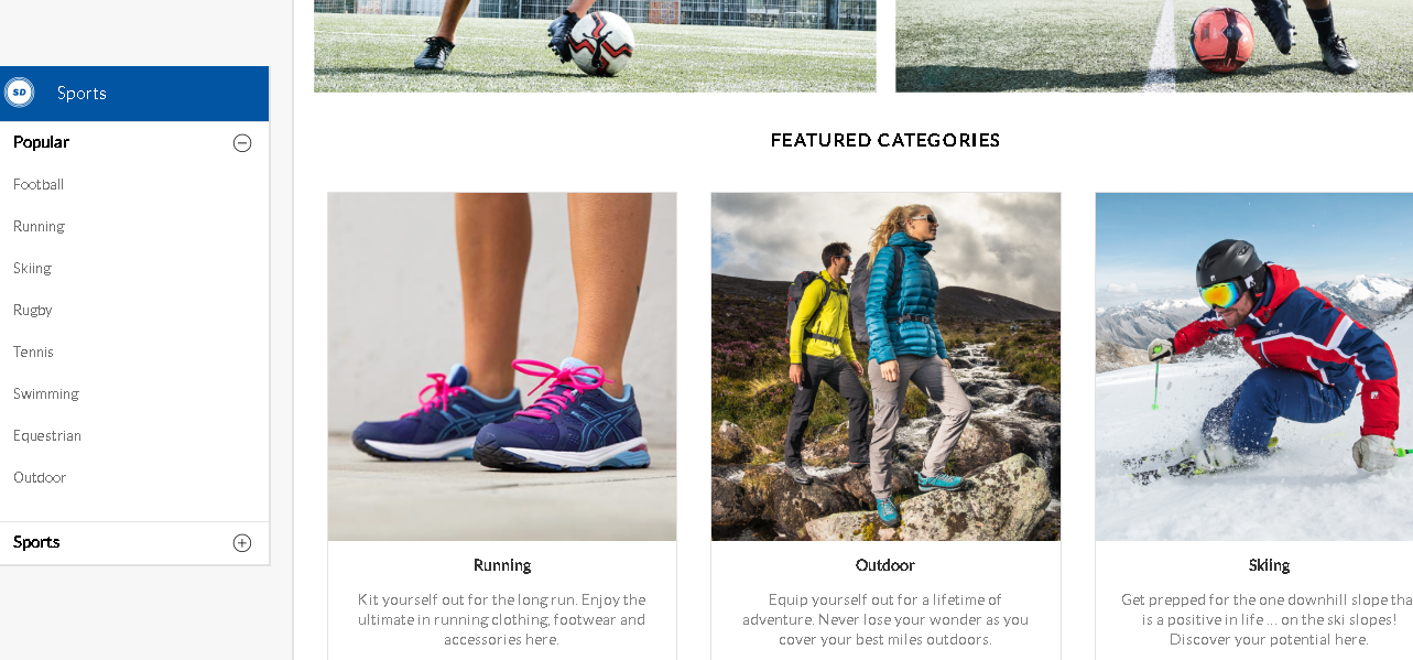 Sports Direct Sports product page