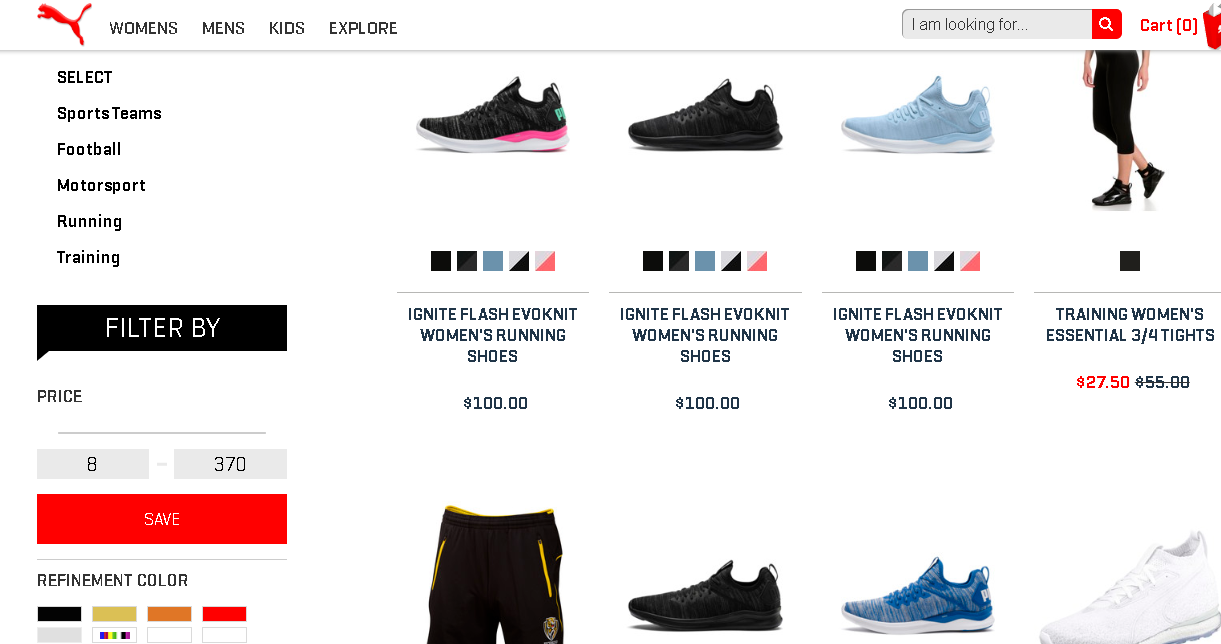 Puma Explore product page