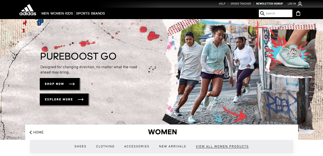 Adidas Women's product page