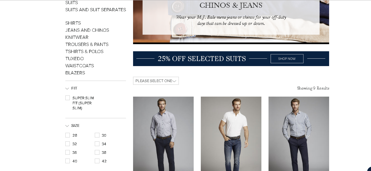 MJ Bale Casual product page
