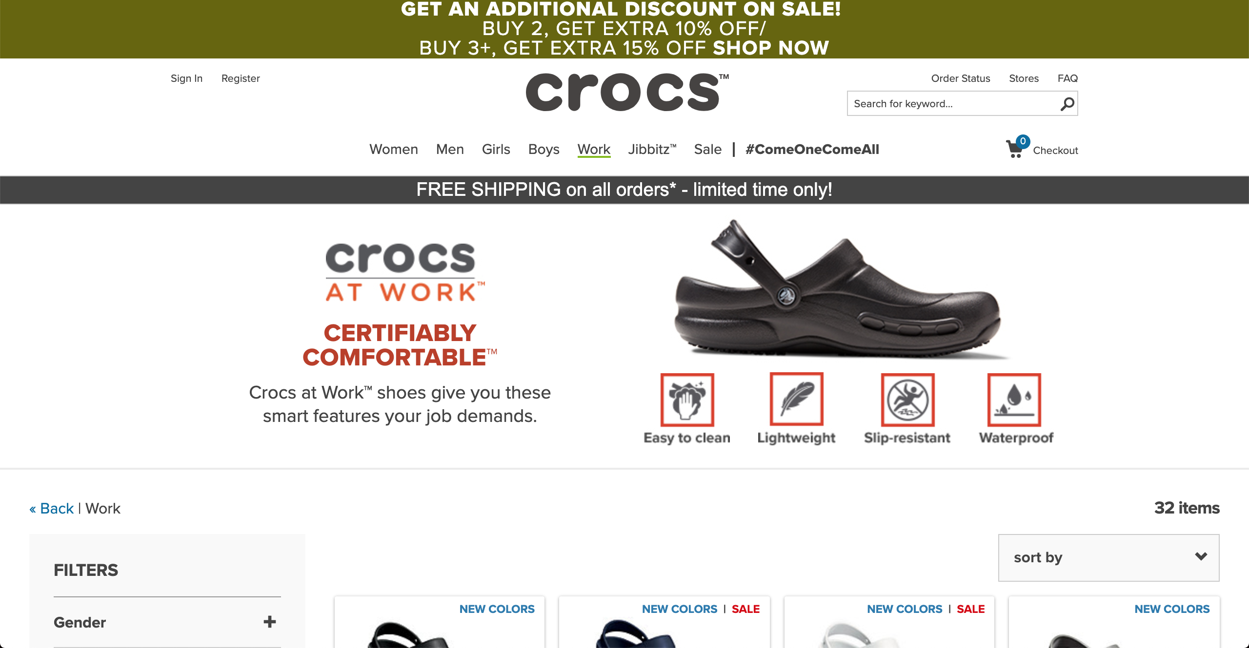 Crocs for work