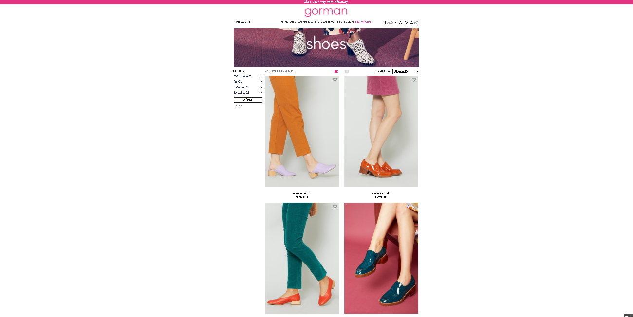 Gorman shoes page
