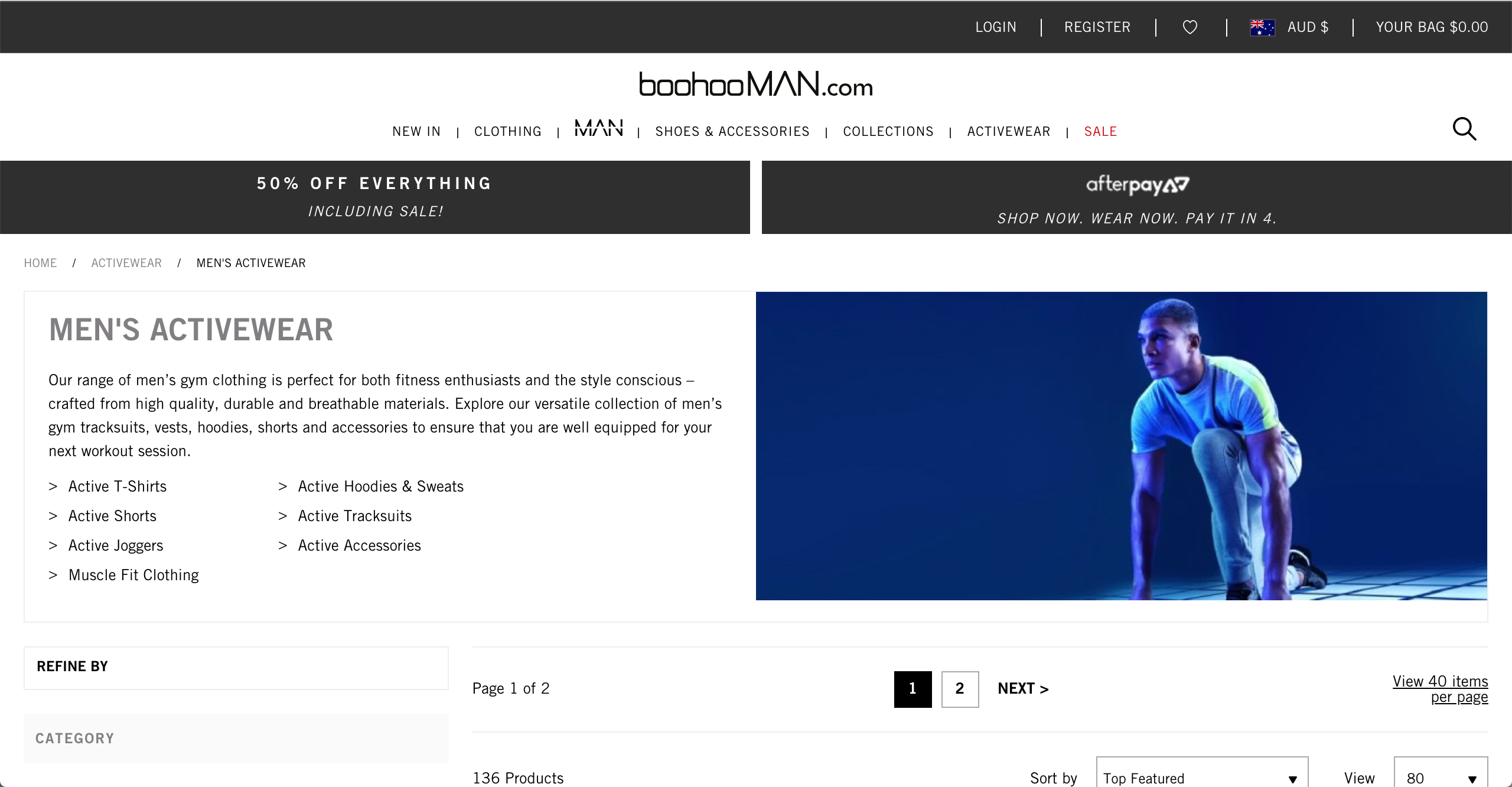 boohooMAN activewear collection