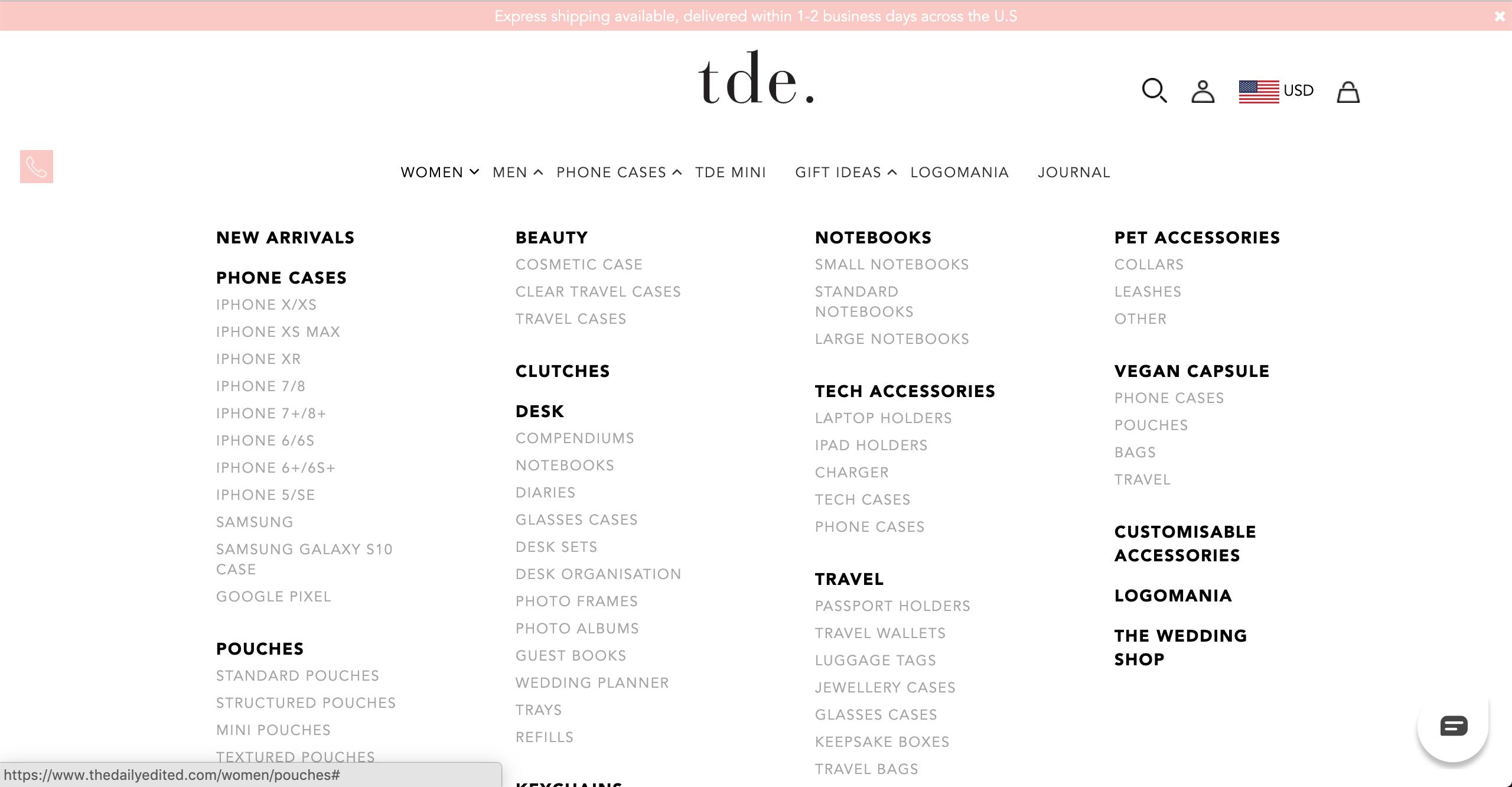 TDE women's products