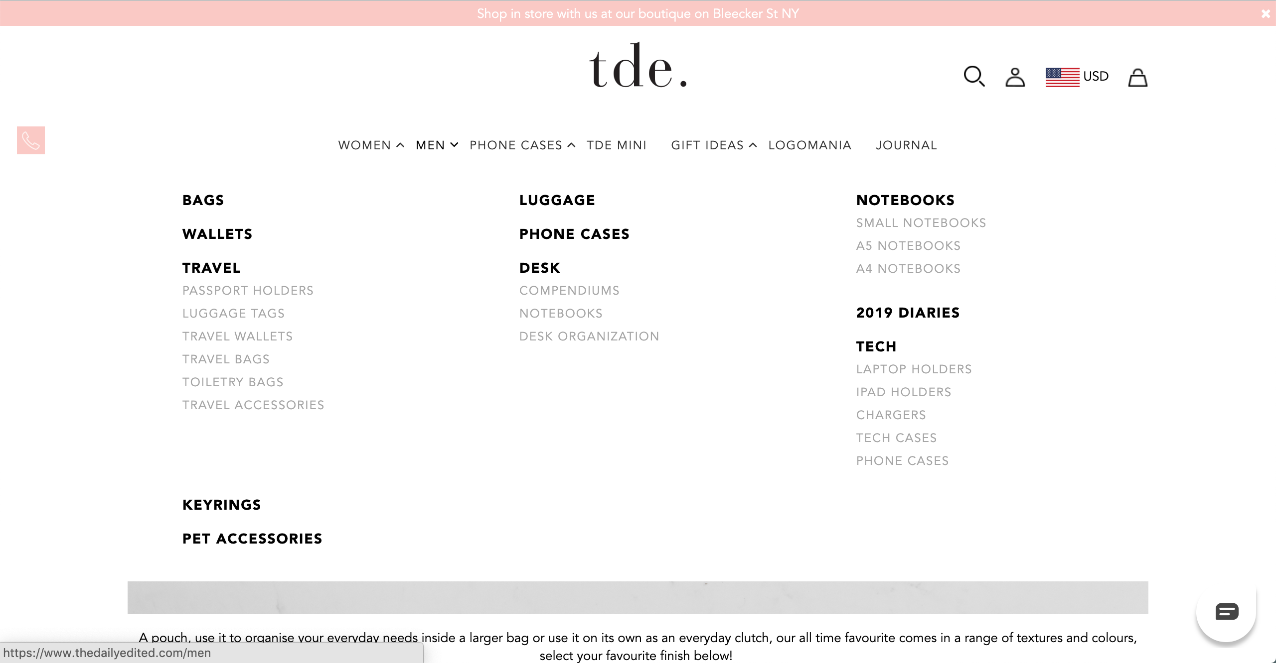 TDE men s products