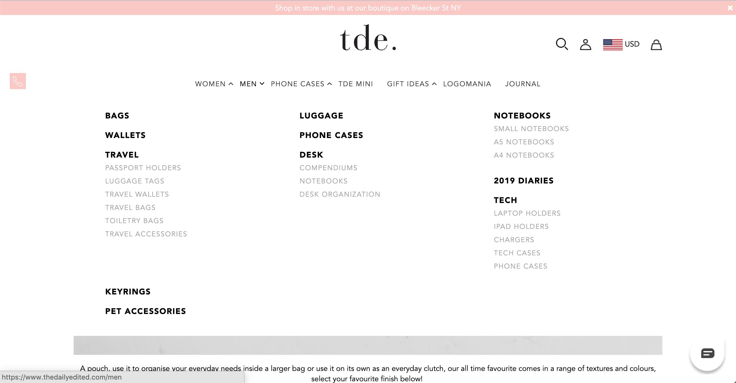 TDE men's products