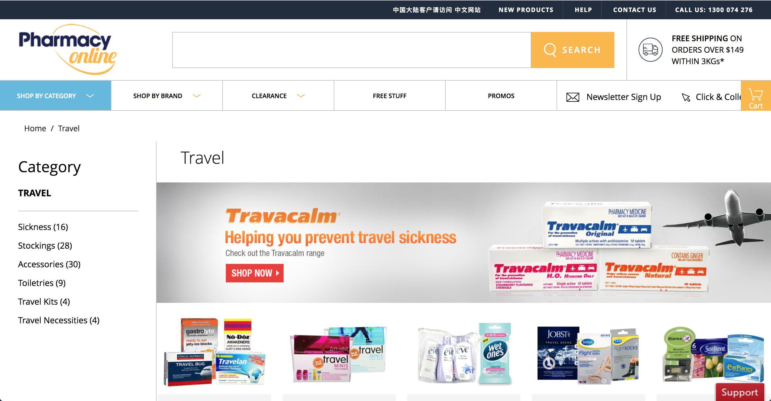 Pharmacy Online travel