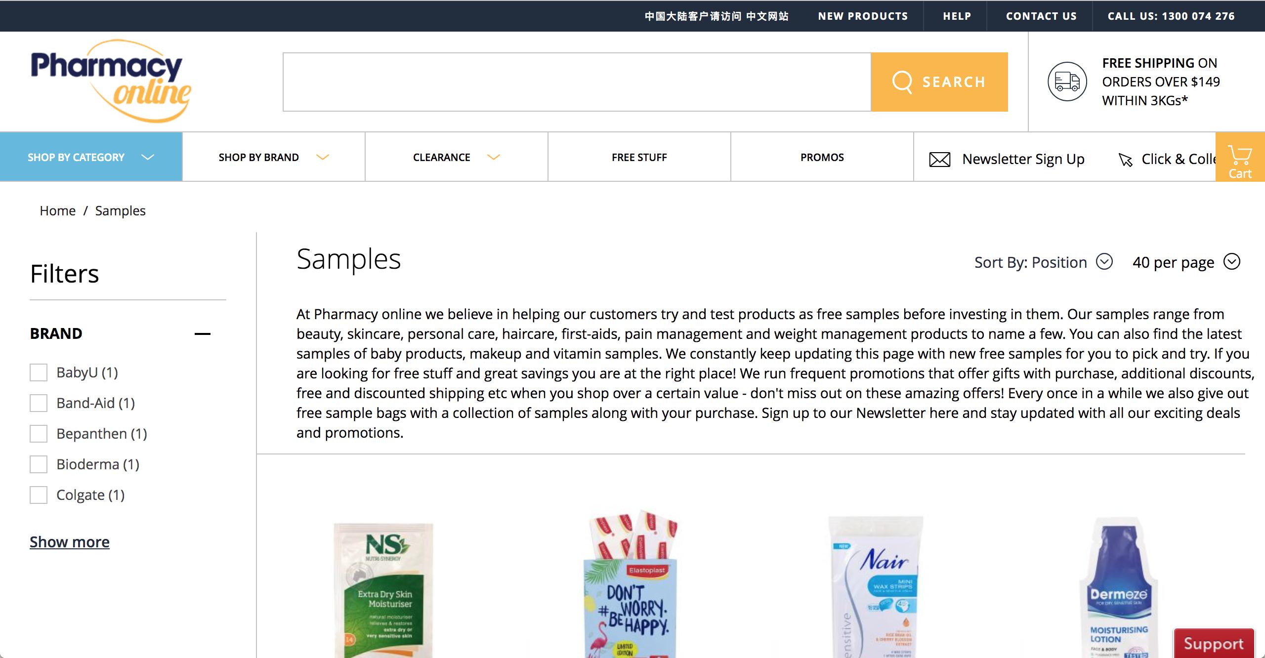 Pharmacy Online samples