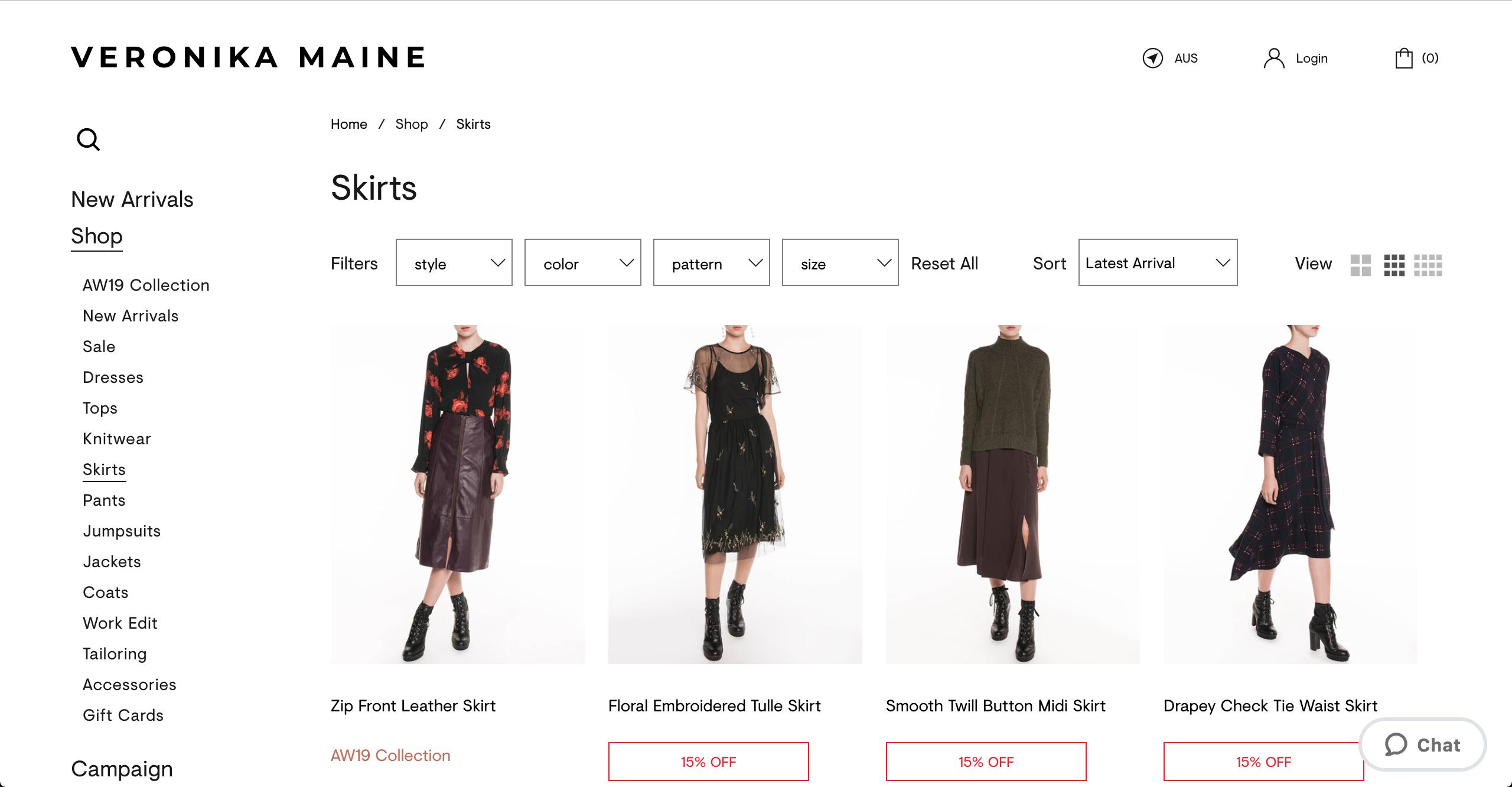 Veronika Maine skirts
