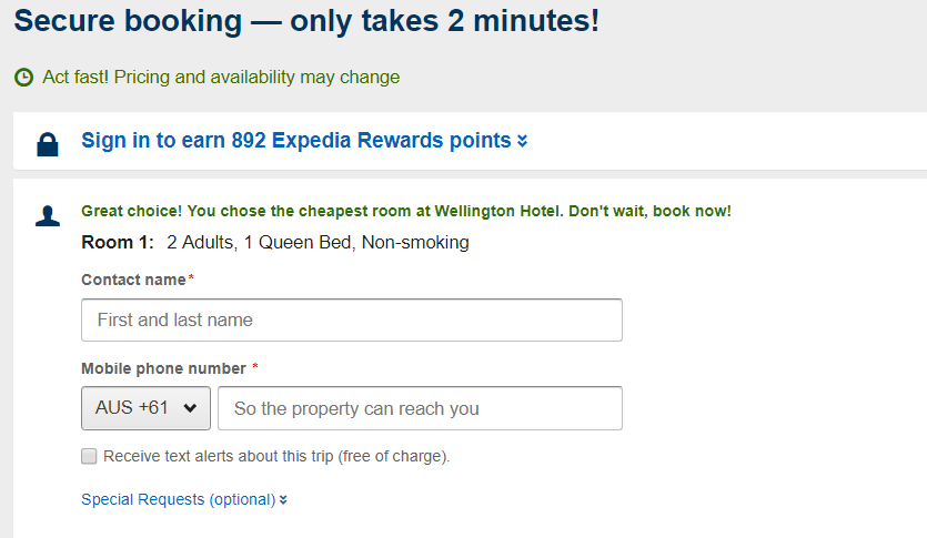 Expedia Payment