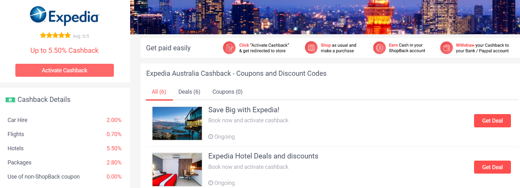Expedia ShopBack
