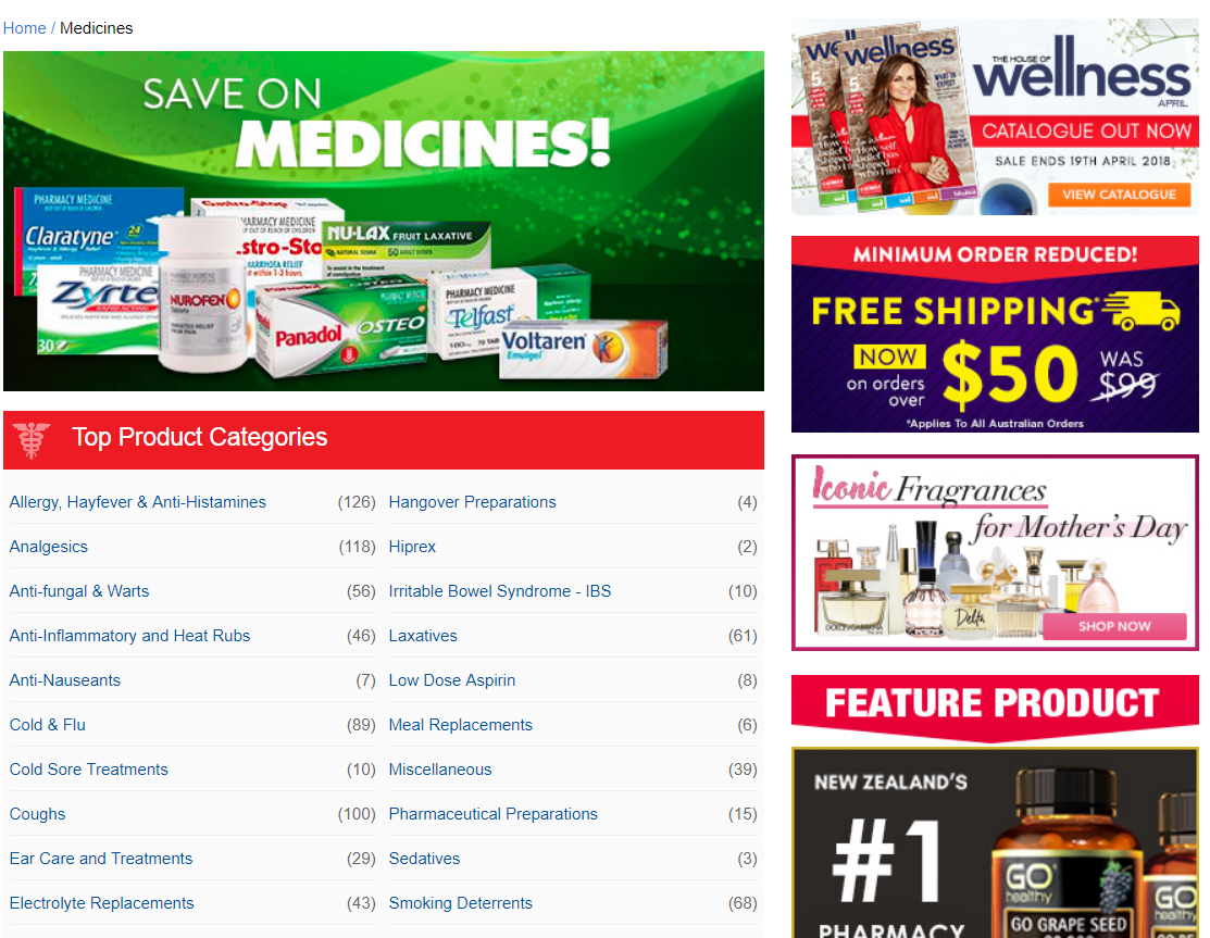 Chemist Warehouse Medicines