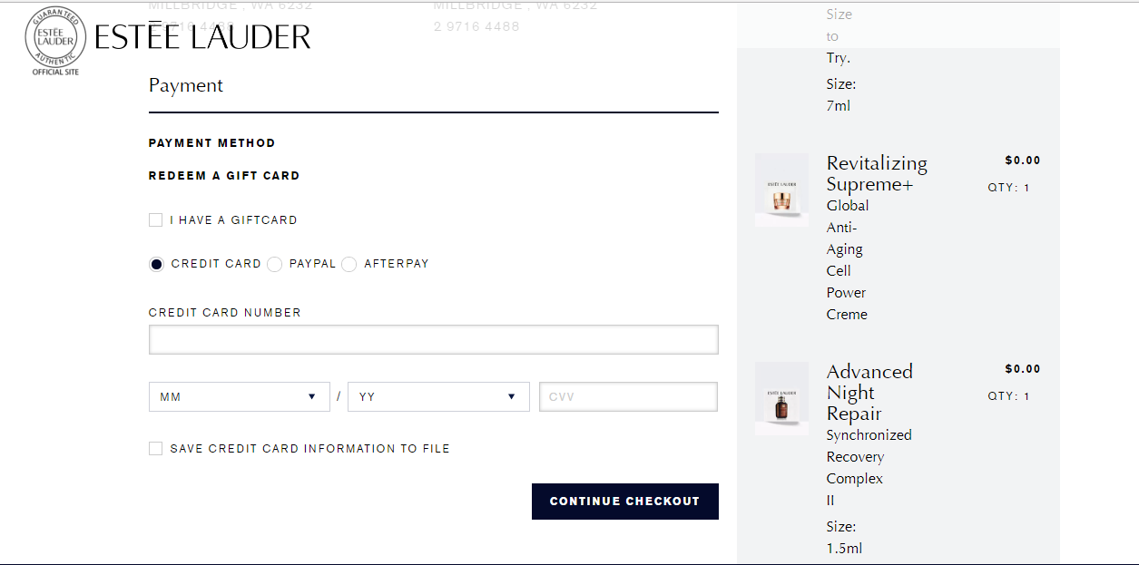 Estee Lauder Payment Options