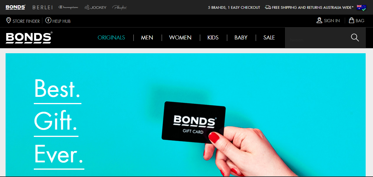 Bonds Gift Card