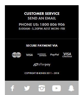 Bonds Customer Service