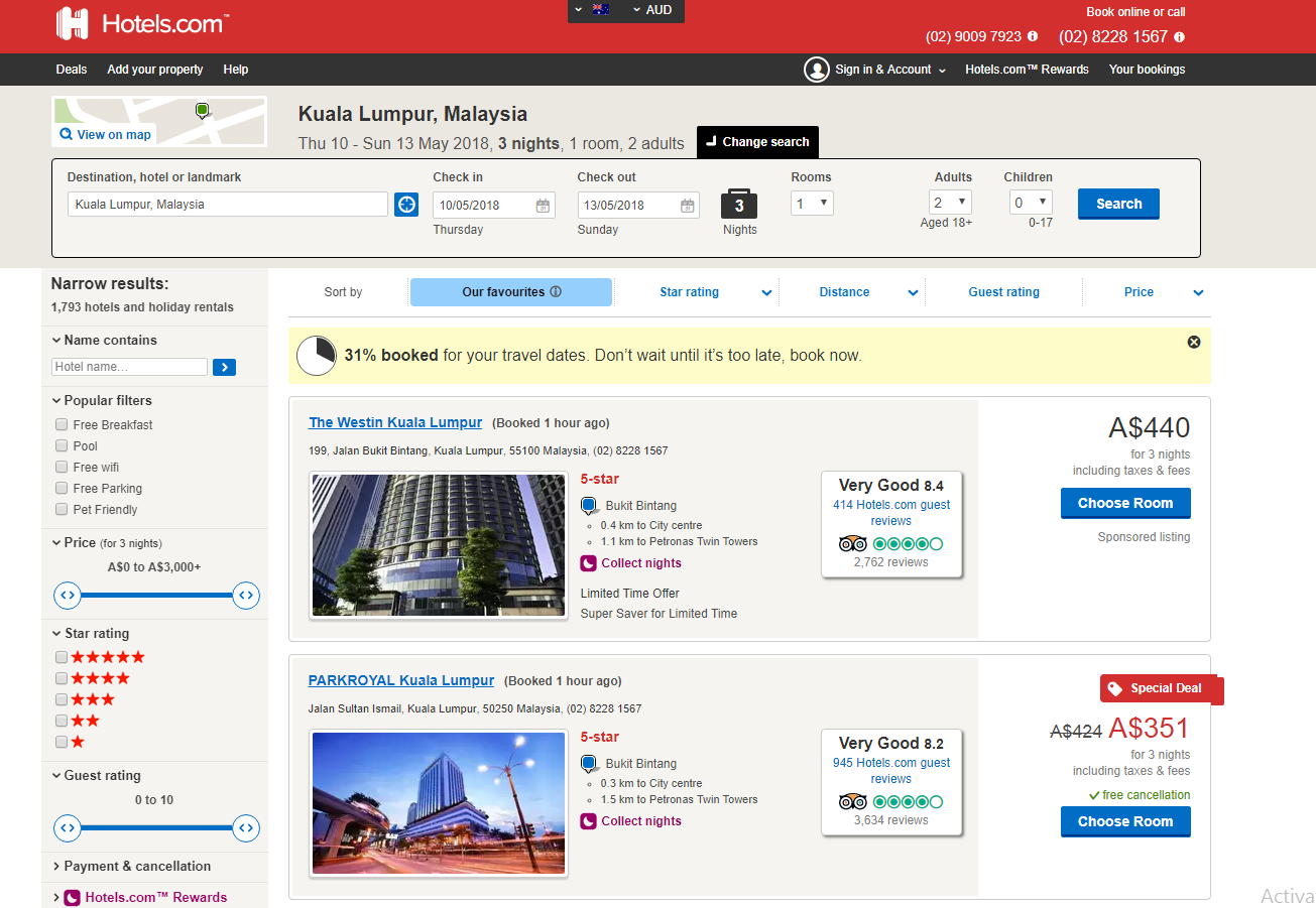 How to use Hotels.com