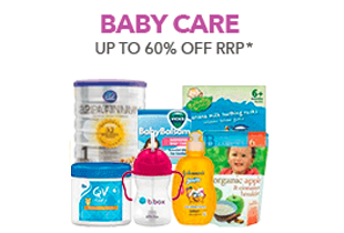 Up to 60% off Baby Care